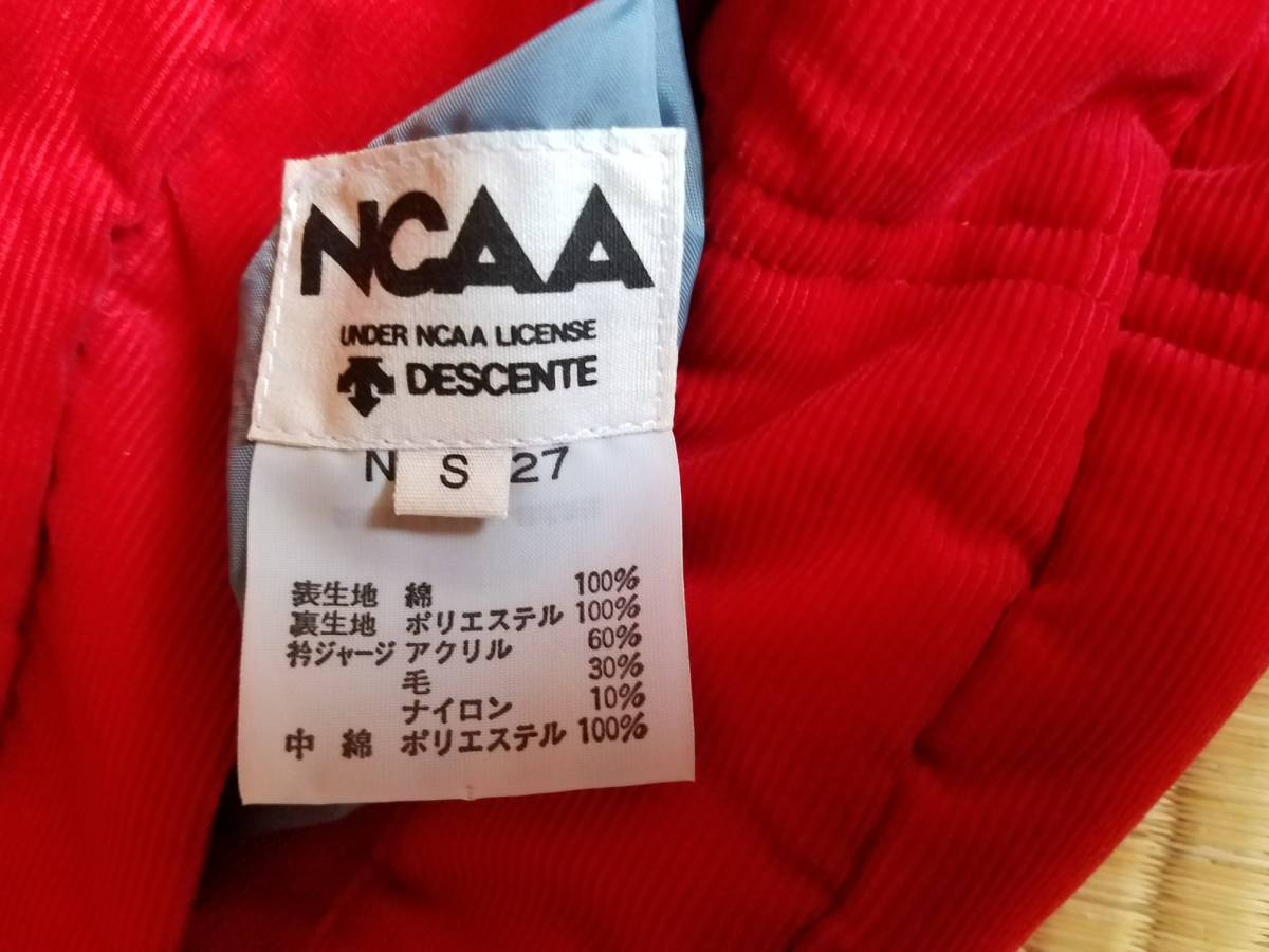 美品 NCAA(DESCENTE)  リバーシブルブルゾン  (Sサイズ)_素材表示