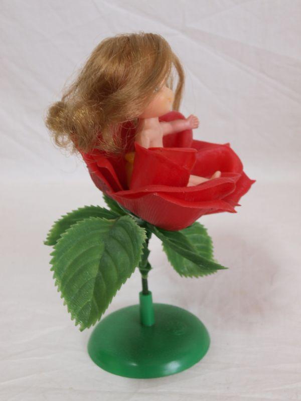 当時物◆旧タカラ チビッコメイト ファンタジックシリーズばらのチーちゃん ソフビ人形/薔薇/バラ/花/昭和レトロ/古い/昔/女の子/玩具_画像9
