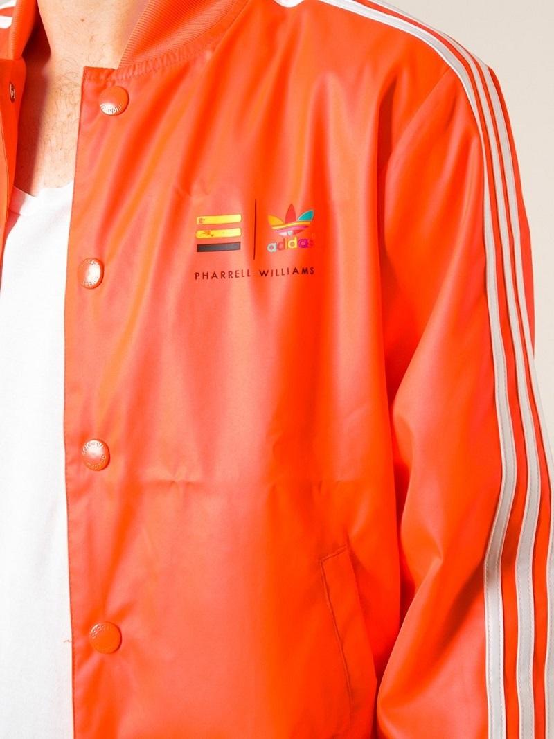 アディダス オリジナルス ファレル ウィリアムス コラボ ジャケット XSサイズ 定価17280円 ネオン オレンジ PHARRELL WILLIAMS ブルゾン_画像2