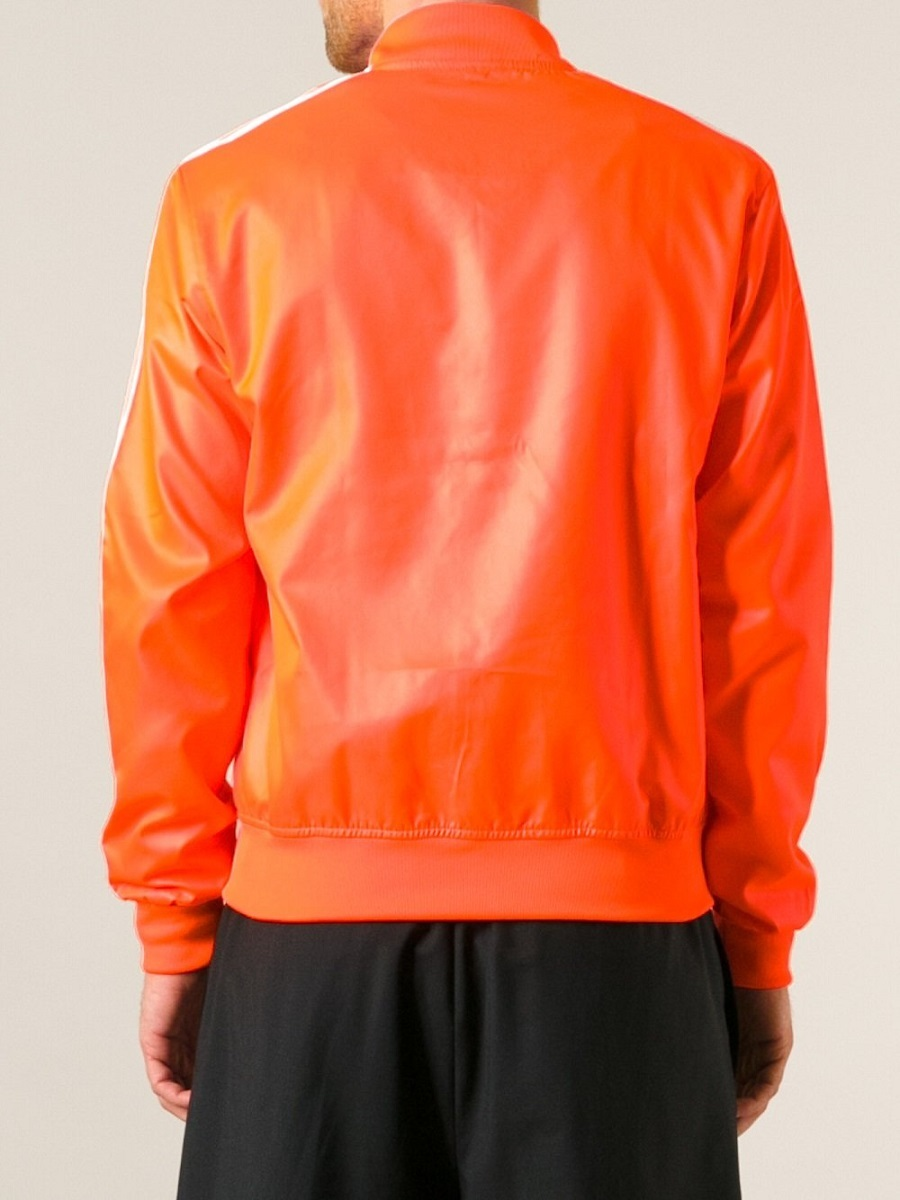 アディダス オリジナルス ファレル ウィリアムス コラボ ジャケット XSサイズ 定価17280円 ネオン オレンジ PHARRELL WILLIAMS ブルゾン_画像3