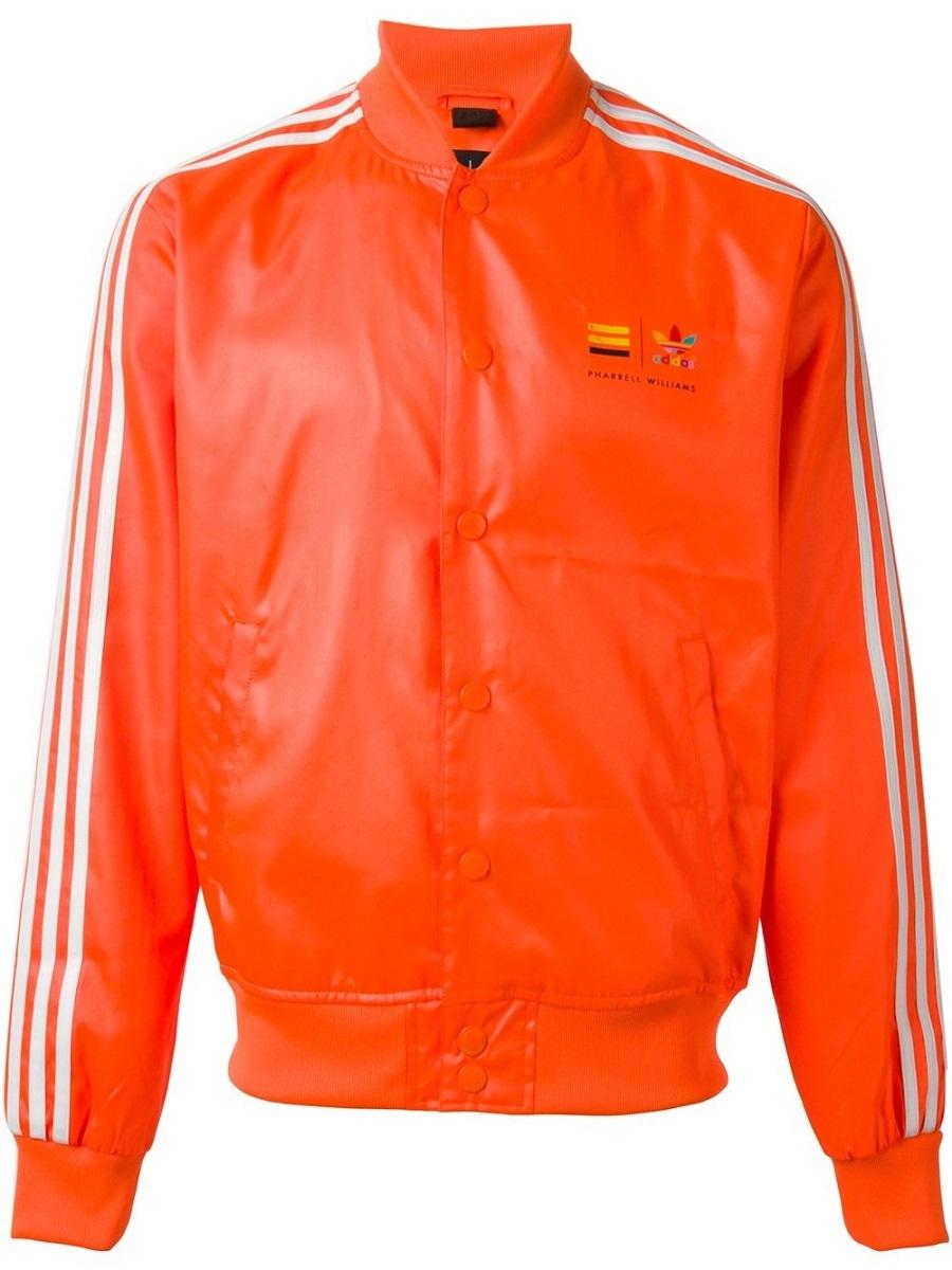 アディダス オリジナルス ファレル ウィリアムス コラボ ジャケット XSサイズ 定価17280円 ネオン オレンジ PHARRELL WILLIAMS ブルゾン_画像5