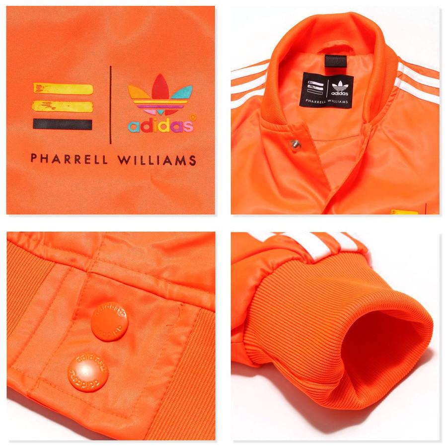 アディダス オリジナルス ファレル ウィリアムス コラボ ジャケット XSサイズ 定価17280円 ネオン オレンジ PHARRELL WILLIAMS ブルゾン_画像4