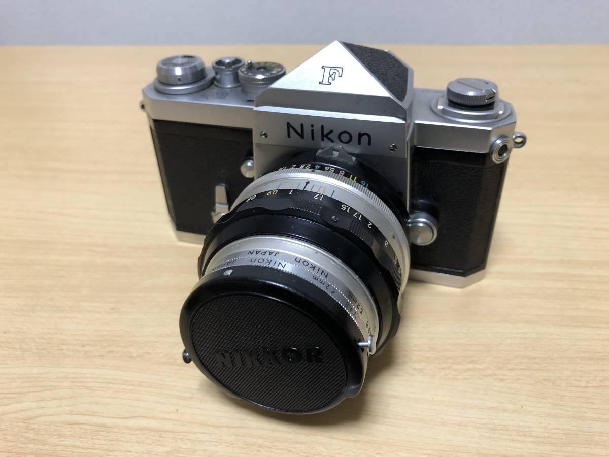 中古 Nikon ニコン F ボディ シルバー 646万台 NIKKOR-S・Auto 1:1.4 f=50mm