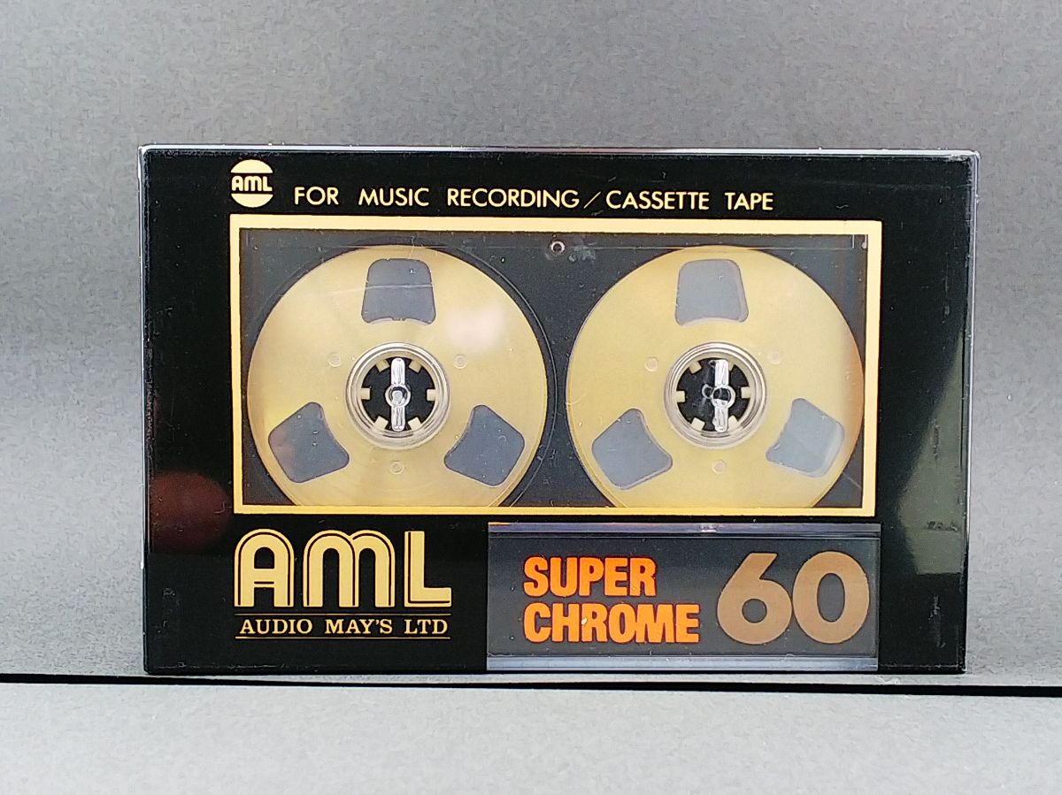 AML (audio may's ltd.)オープンリール風 カセットテープ SUPER CHROME 60 ハイポジション type Ⅱ made in Japan 新品、未開封 送料込み!