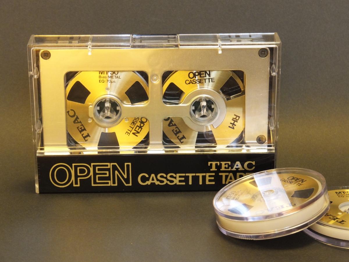 中古 使用済 TEAC オーカセ オープンリール風 リール交換式 カセットテープ MT50 メタルポジション ×3送料込み!