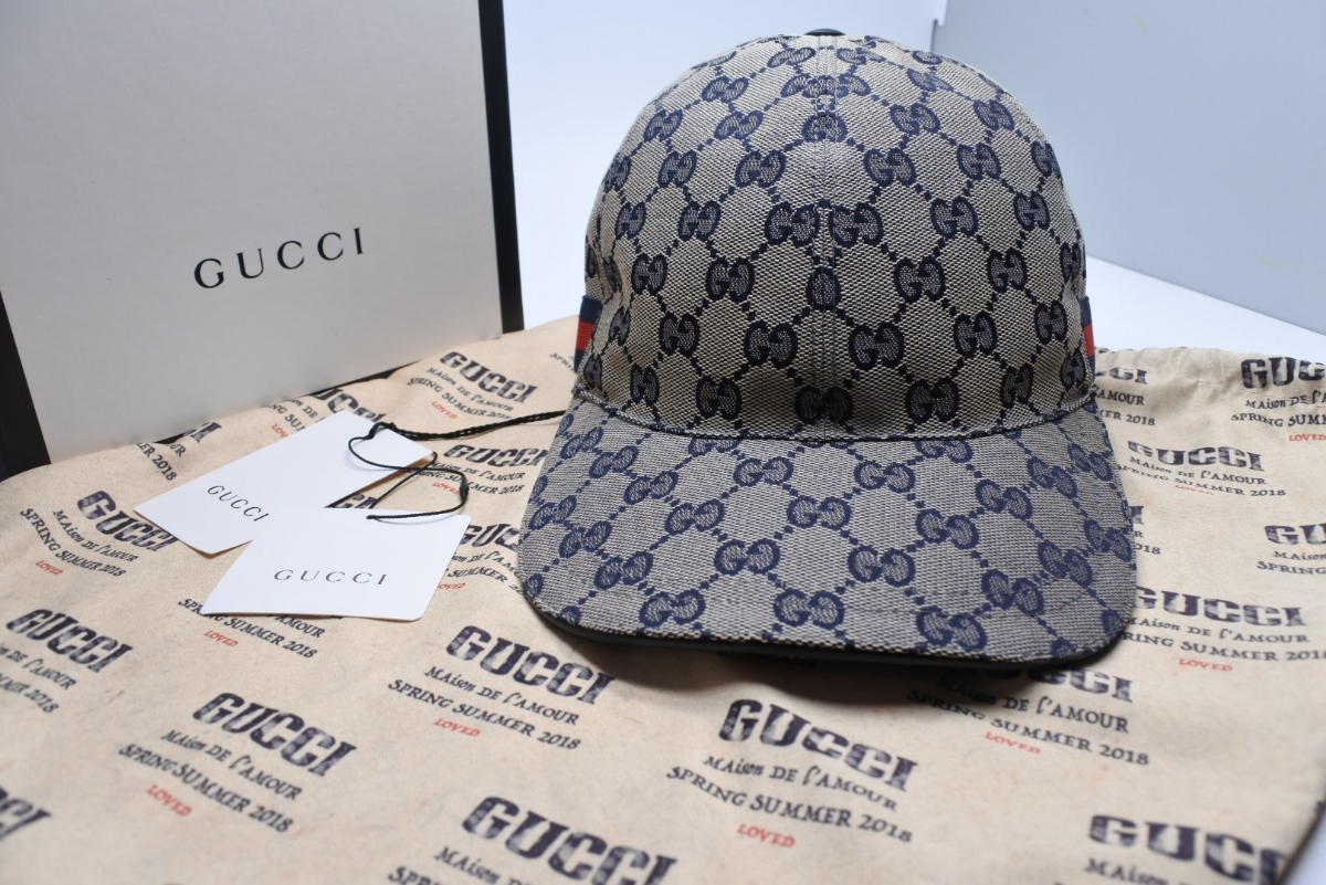 GUCCI Gucci hat CAP new goods unused beige 17AW box attaching present goods  Sherry line XL 186fd899dce