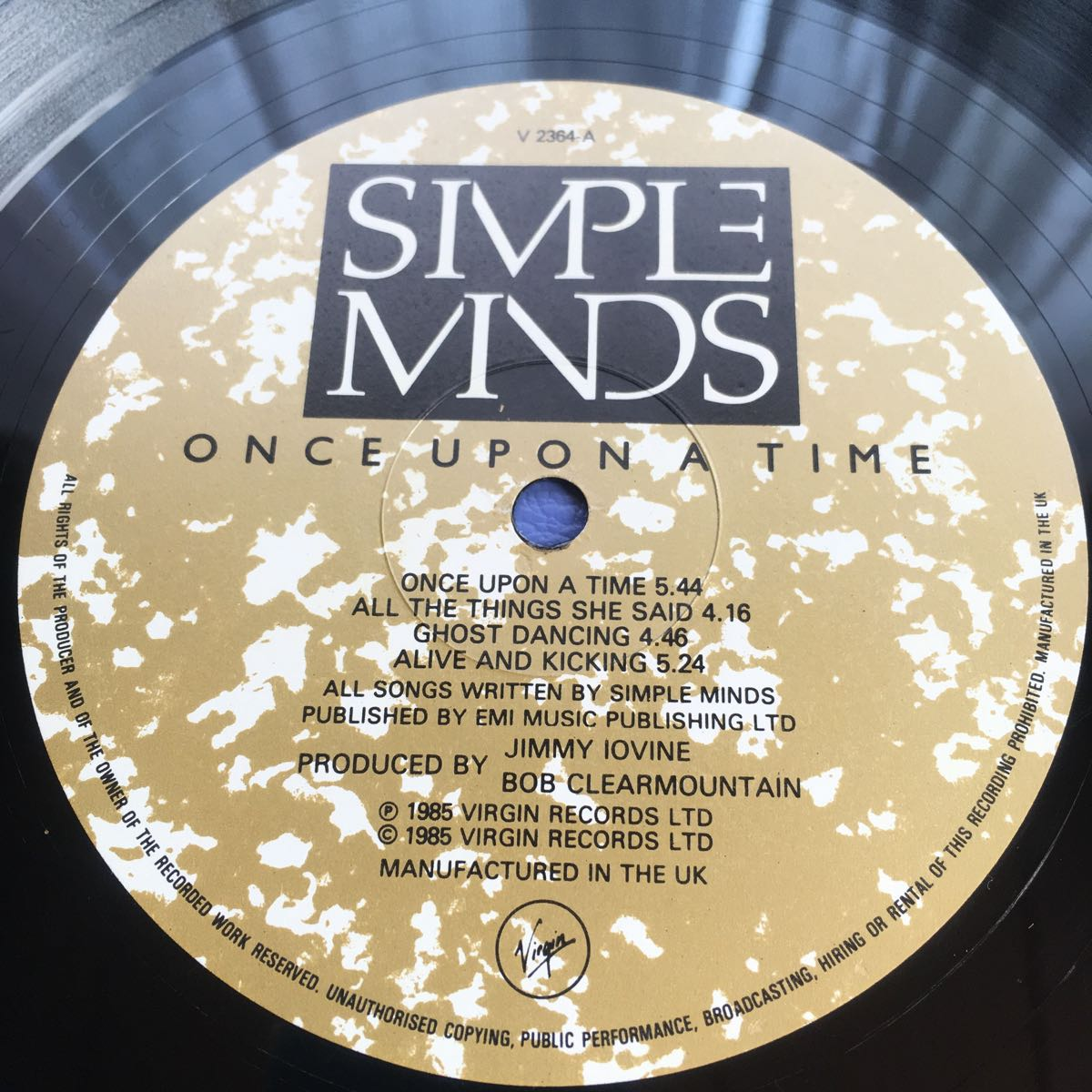 LP Simple Minds Once Upon a Time レコード 5点以上落札で送料無料_画像3