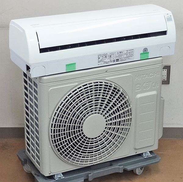 HITACHI【RAS-AJ22F】日立 白くまくん ルームエアコン おもに6畳用 R32冷媒 2016年製 中古品/E_画像1