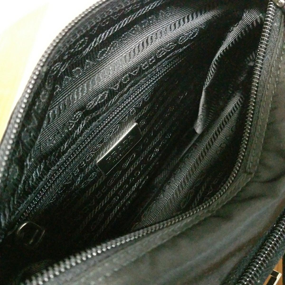 【正規品】新品 PRADA プラダ ショルダーバッグ 保存袋・ギャランティカード付 気持ち良く使って頂けます_画像2