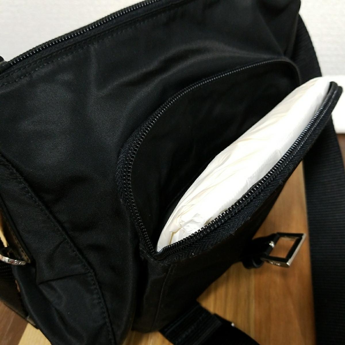 【正規品】新品 PRADA プラダ ショルダーバッグ 保存袋・ギャランティカード付 気持ち良く使って頂けます_画像4