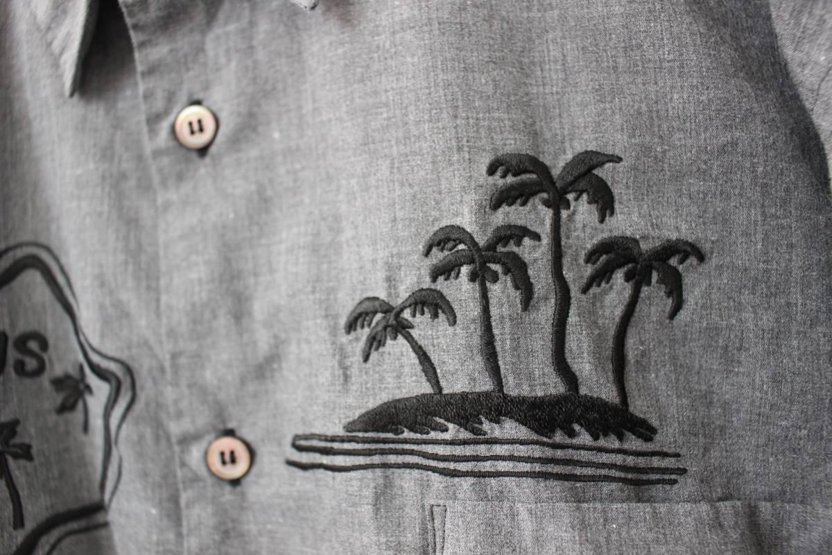 SALE コムデギャルソンオムプリュス ロゴ&ヤシの木 刺繍シャツ 製品染め COMME des GARCONS HOMME PLUS AD2013_画像3