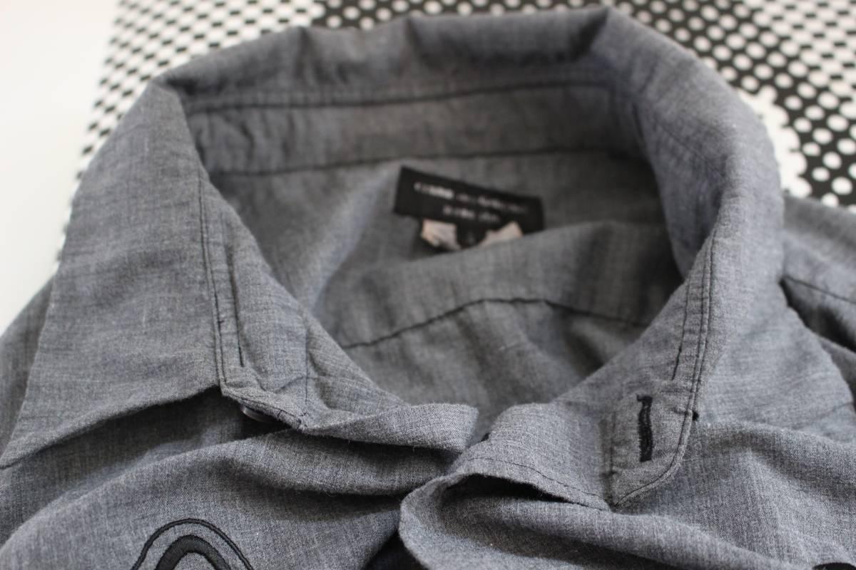SALE コムデギャルソンオムプリュス ロゴ&ヤシの木 刺繍シャツ 製品染め COMME des GARCONS HOMME PLUS AD2013_画像5