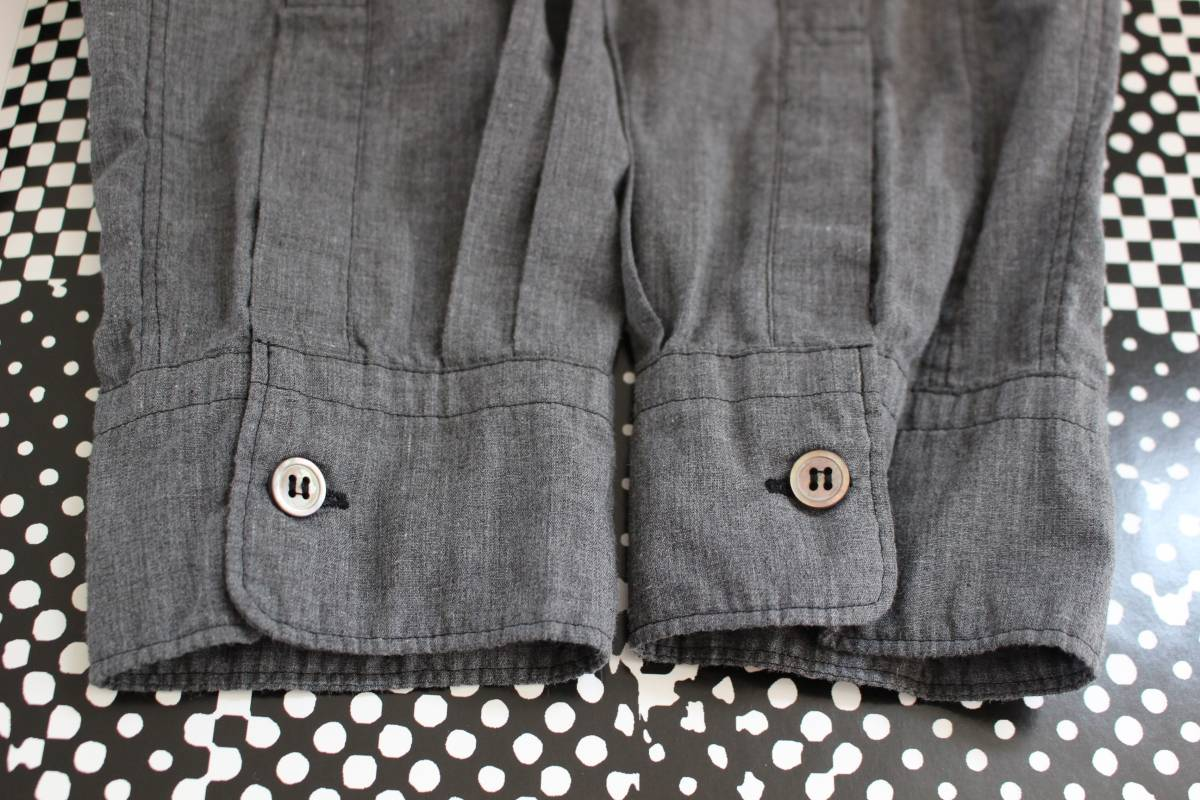 SALE コムデギャルソンオムプリュス ロゴ&ヤシの木 刺繍シャツ 製品染め COMME des GARCONS HOMME PLUS AD2013_画像6