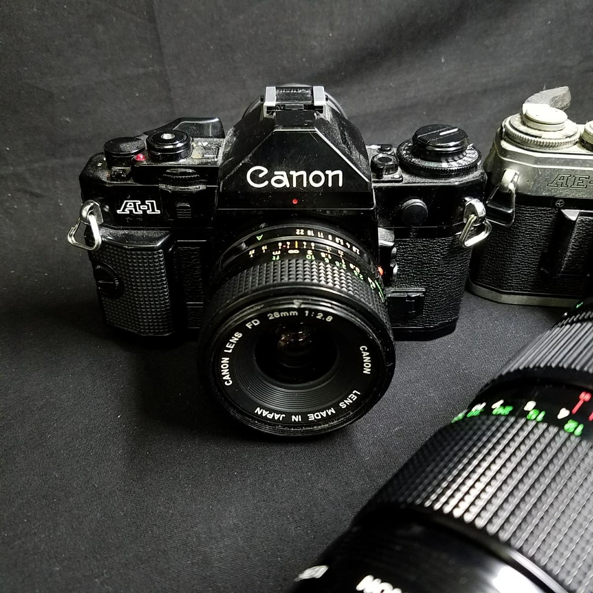 カメラ 光学機器 一眼レフ アンティークカメラ フィルムカメラ プロ仕様 キャノン CANON A-1 AE-1 レンズ 望遠  s-0005_画像4