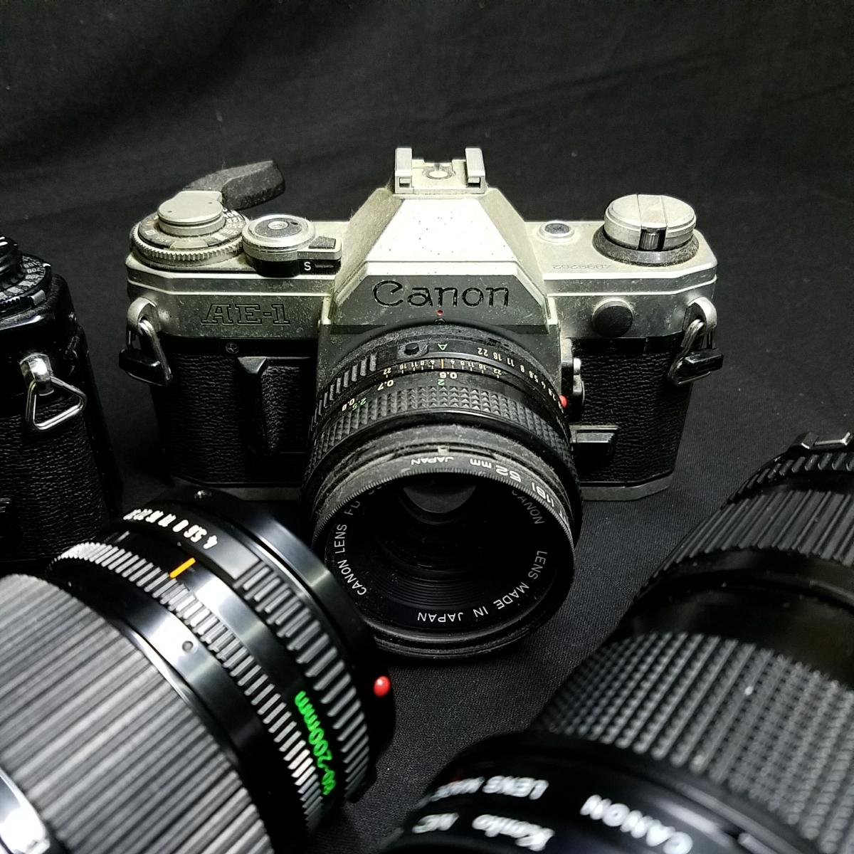 カメラ 光学機器 一眼レフ アンティークカメラ フィルムカメラ プロ仕様 キャノン CANON A-1 AE-1 レンズ 望遠  s-0005_画像5