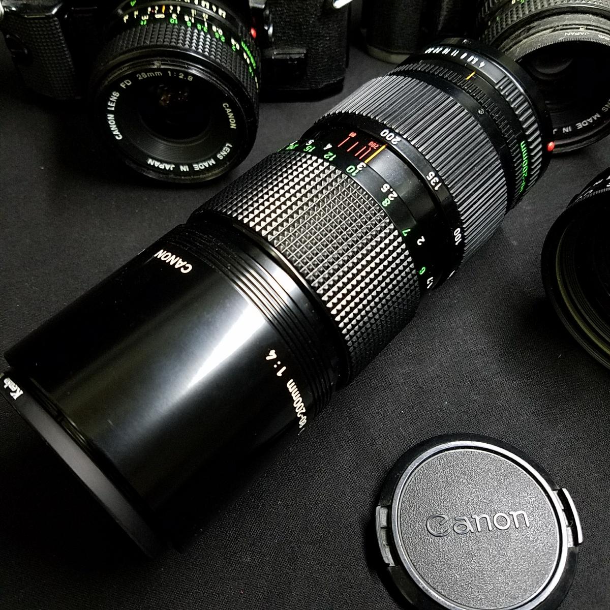 カメラ 光学機器 一眼レフ アンティークカメラ フィルムカメラ プロ仕様 キャノン CANON A-1 AE-1 レンズ 望遠  s-0005_画像6