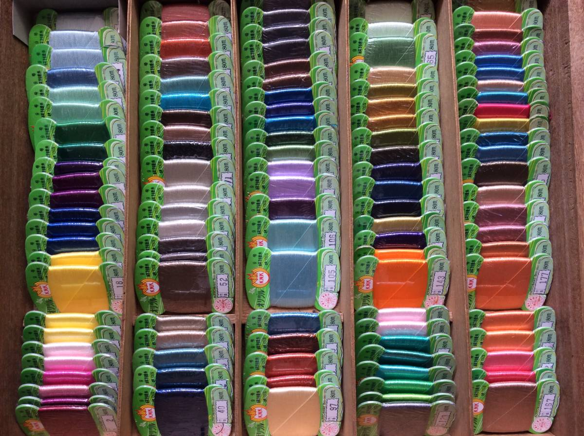 ★   絹 手縫糸  113個セット ☆オリヅル絹手縫糸 9号 絹100% 80m巻