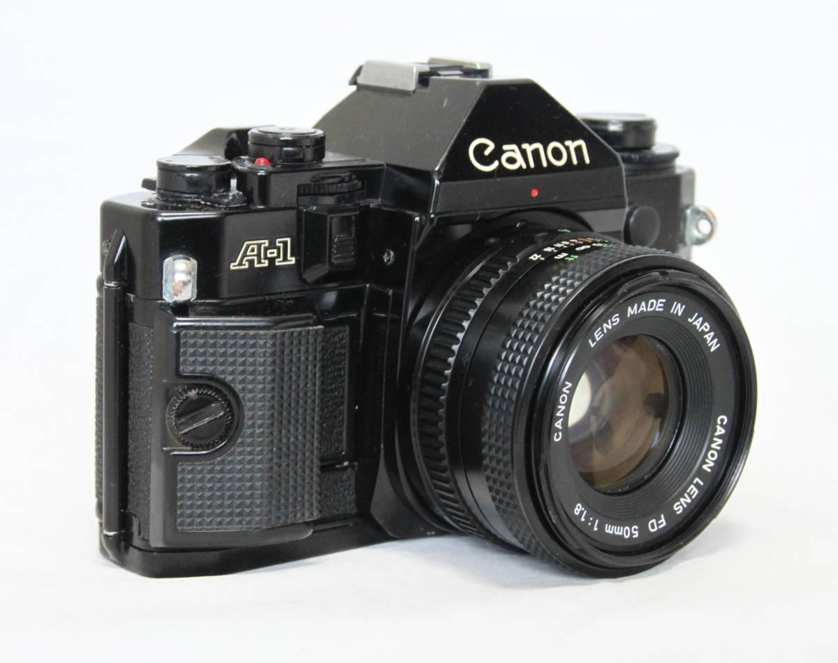 ジャンク★キヤノン Canon キャノン A-1 50mmF1.8付き_画像3