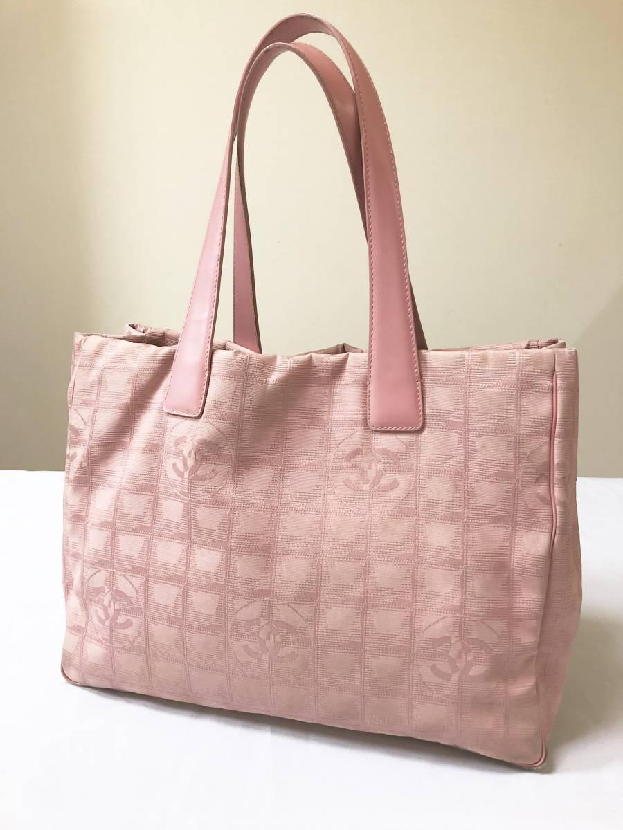 ◆ 良品 ◆ シャネル CHANEL ニュートラベルラインMM ピンク トート バッグ