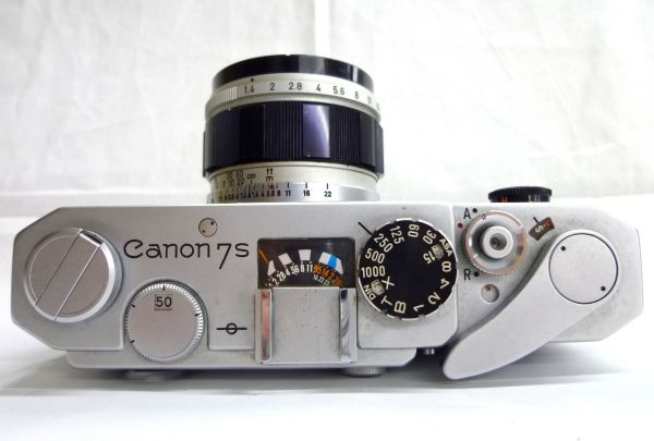 1000円~ Canon キャノン 7S LENS 50mm F1.4 ケース付き 1ISO-032AI_画像4