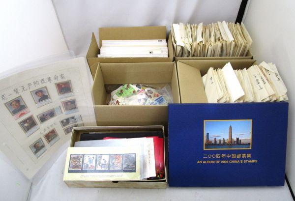 1円~ 中国切手 大量 約13000枚/初日カバー 封筒 ポストカード 約180枚/小型シート 約200