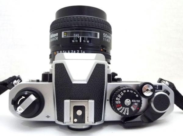 1000円~ Nikon NEW FM2 後期 ニコン Nikon AF NIKKOR 50mm F1.4 D ニッコール 付属品有 ストラップ付 042AK_画像4