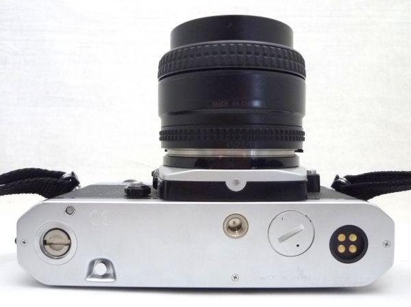 1000円~ Nikon NEW FM2 後期 ニコン Nikon AF NIKKOR 50mm F1.4 D ニッコール 付属品有 ストラップ付 042AK_画像5