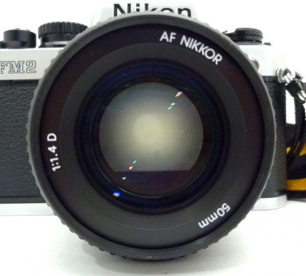 1000円~ Nikon NEW FM2 後期 ニコン Nikon AF NIKKOR 50mm F1.4 D ニッコール 付属品有 ストラップ付 042AK_画像2