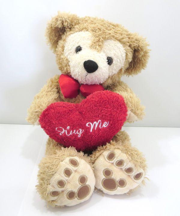 1円~ ぬいぐるみ Duffy ダッフィー Hug me ハグミー ハート ビーズ入り 2005年 バレンタ