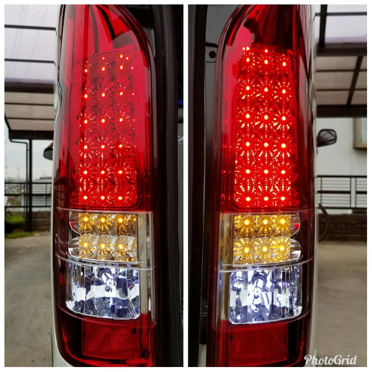 ハイエース 200系 社外LEDテールランプ 1円売り切り バレンティー? コブラ?