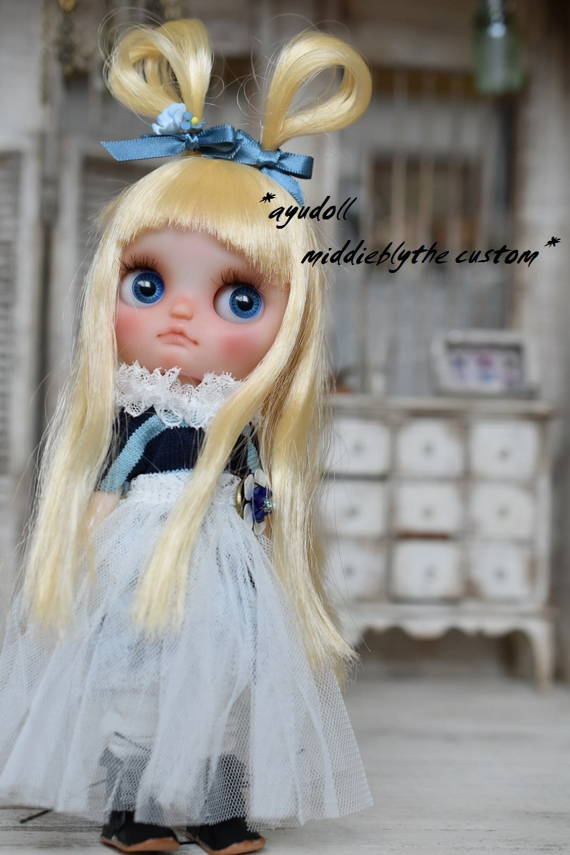 *ayudoll middieblythe custom*「Blue rabbit」カスタムミディブライス アリス ペプルケーキアンドシュリンキングアリス