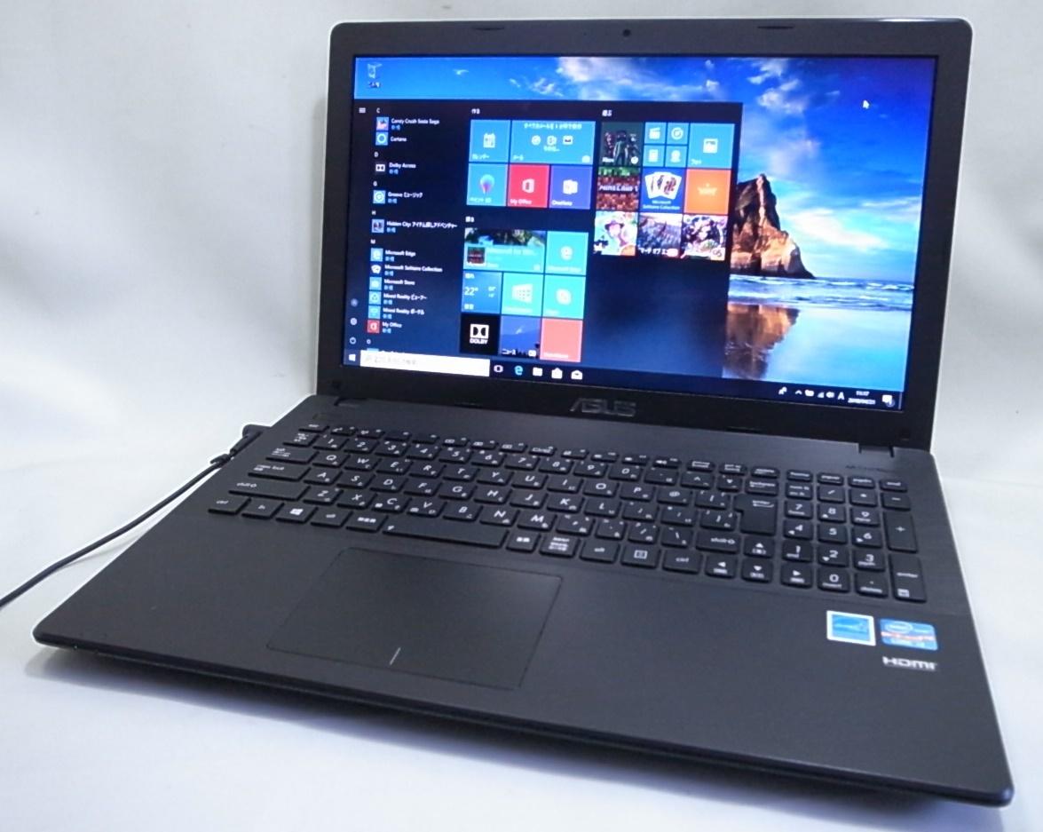 ASUS ノートパソコン X551CA Corei3 3217U 4GB/500GB Windows10