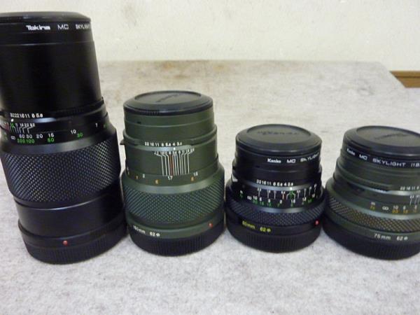 ◆ゼンザブロニカ/ETRS SF レンズ4本セット サファリカラー限定販売セット◆_画像10