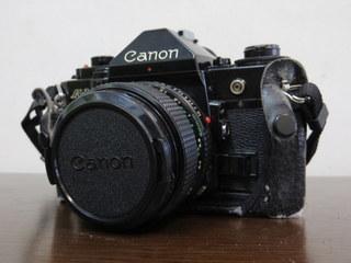 【2513】 Canon (キヤノン) 一眼レフ フィルムカメラ A-1 24mm・100-300mmレンズ その他付属多 中古