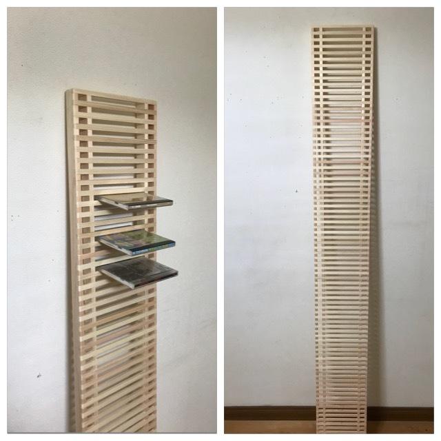 天然木のDVD、CDラック シングルタイプ(大) ヒノキ 手作り DIY_CDラック
