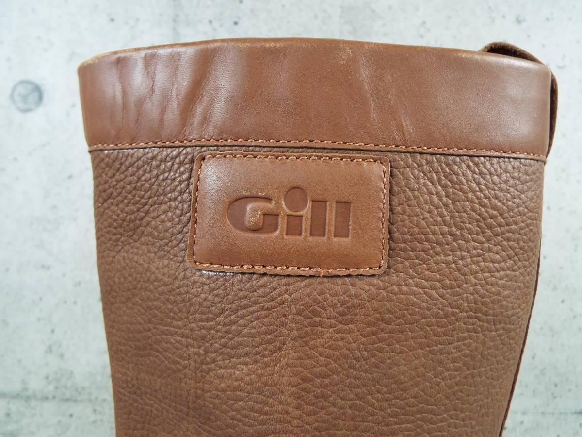 [私物・新品同様] ギル Gill オールレザー・セーリング・ブーツ_画像6