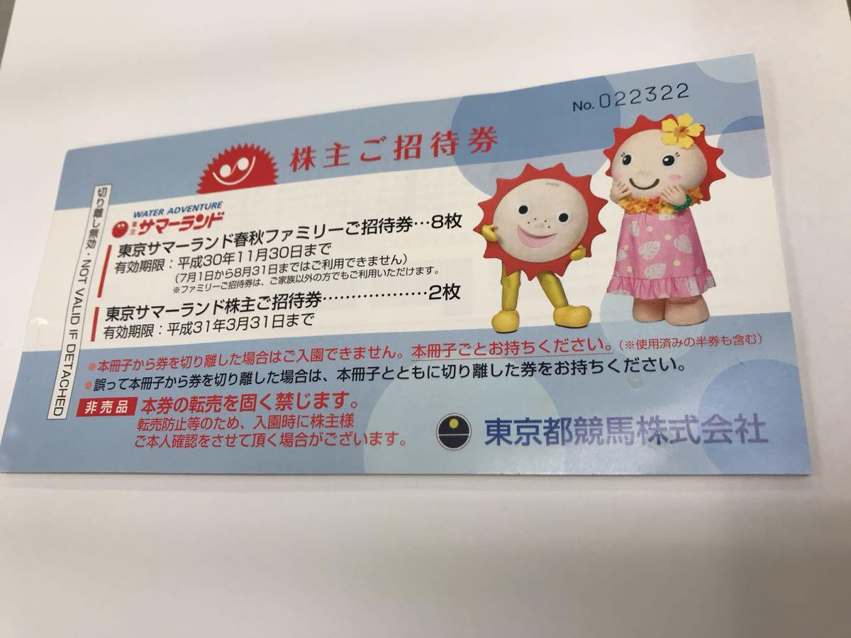 ★東京サマーランド★株主ご招待券 冊子 数量1