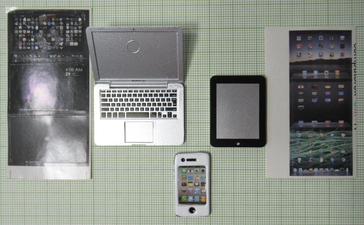 ♪1/6携帯電話 iphone iPad ノートPCセット_画像3