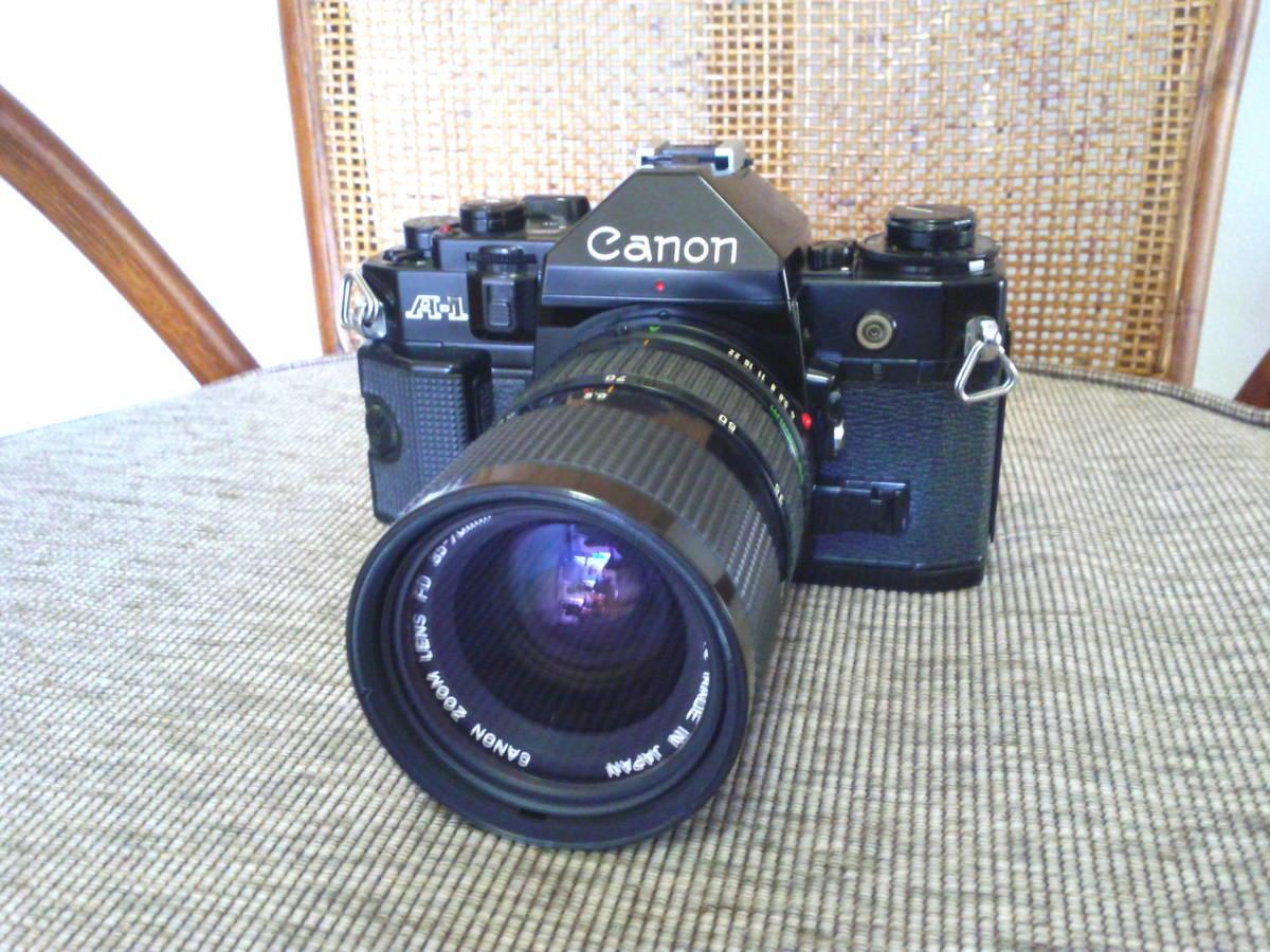 Canon A-1 BK 取扱説明書付き ジャンク品