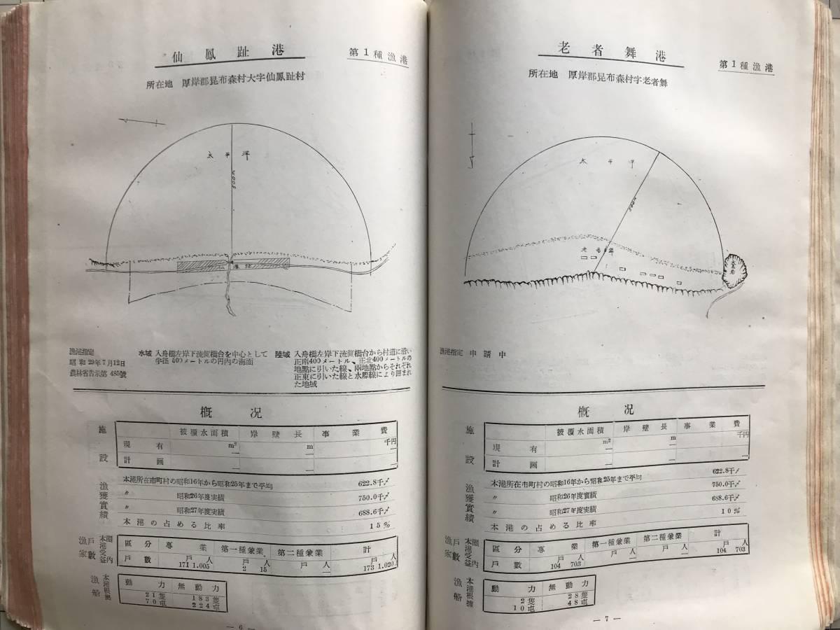 『北海道の漁港』北海道水産部水産課編集 北海道漁港協会 1954年刊 1755_画像10