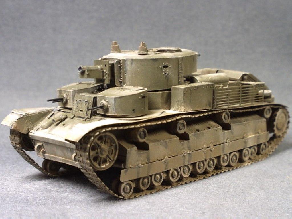 T-28多砲塔戦車 1/72完成品送料...