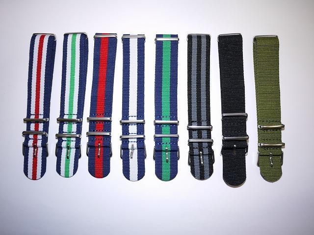 ◆未使新品 腕時計交換用 NATOタイプベルト20mm幅 8本セット -02_画像1
