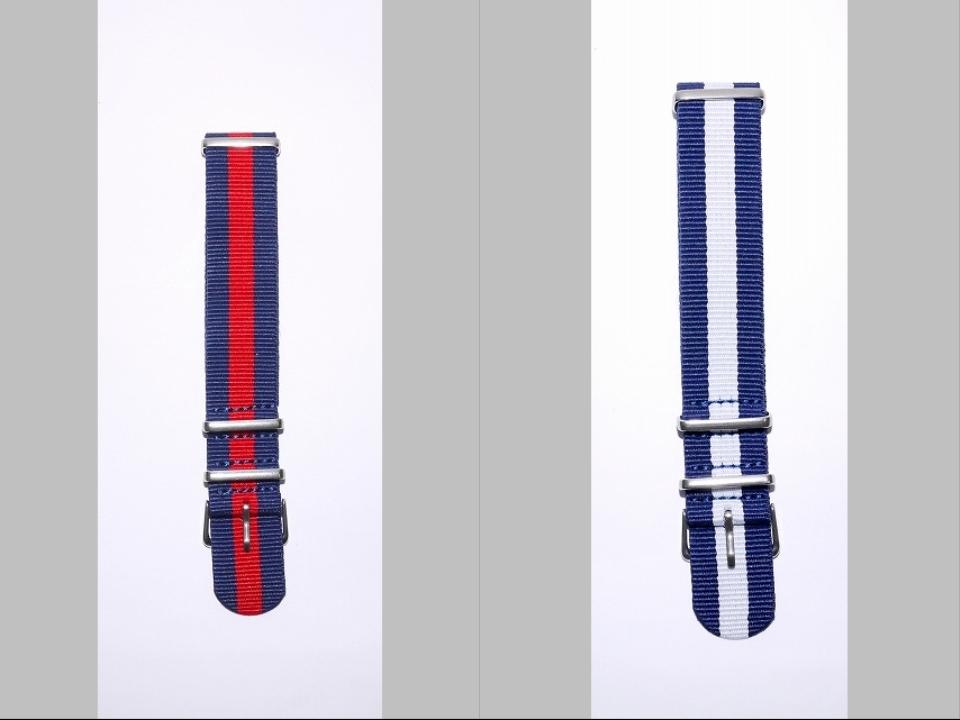 ◆未使新品 腕時計交換用 NATOタイプベルト20mm幅 8本セット -02_画像3
