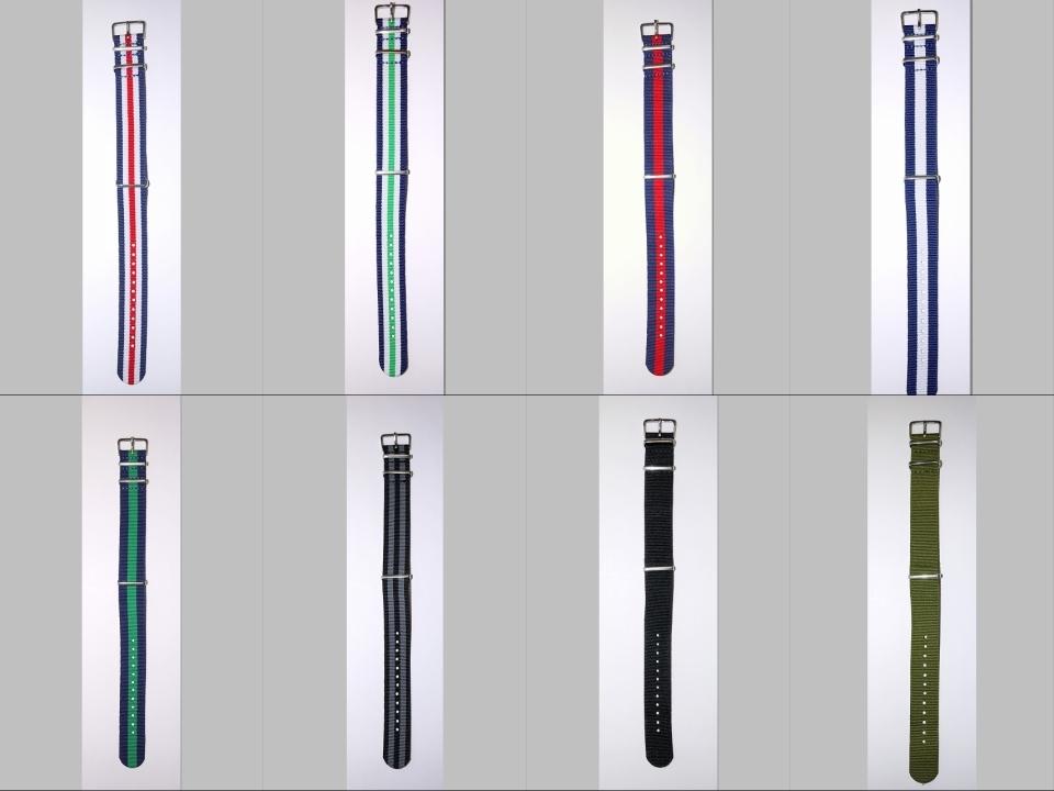 ◆未使新品 腕時計交換用 NATOタイプベルト20mm幅 8本セット -02_画像10