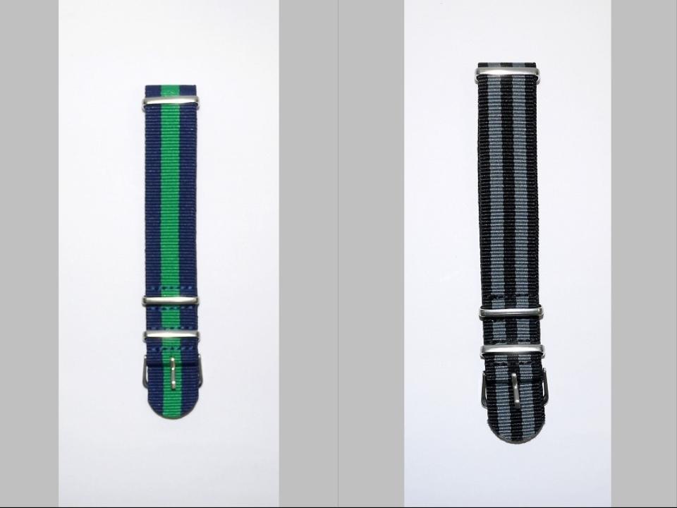 ◆未使新品 腕時計交換用 NATOタイプベルト20mm幅 10本セット -03_画像4
