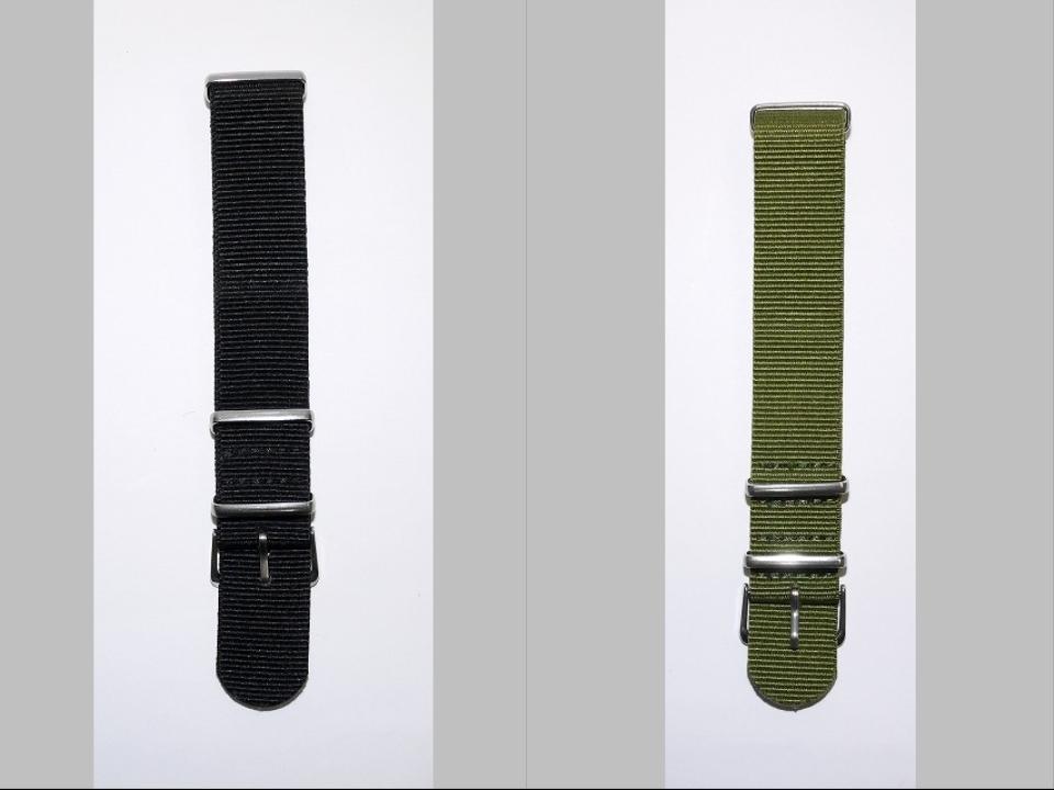 ◆未使新品 腕時計交換用 NATOタイプベルト20mm幅 10本セット -03_画像5