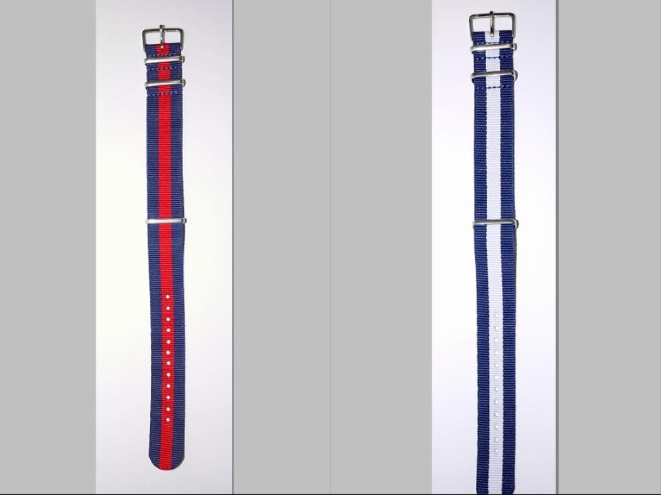 ◆未使新品 腕時計交換用 NATOタイプベルト20mm幅 10本セット -03_画像8
