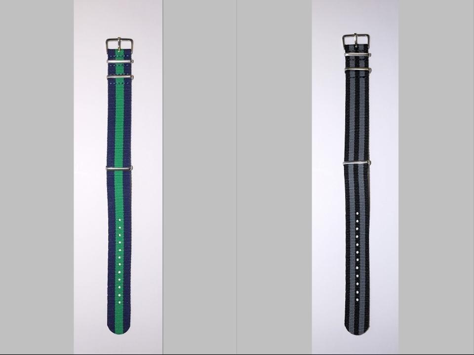 ◆未使新品 腕時計交換用 NATOタイプベルト20mm幅 10本セット -03_画像9