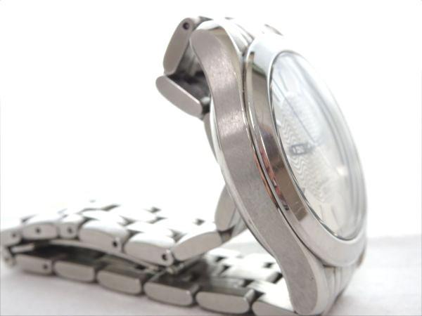 動作OK♪美品!オメガ シーマスター 120M シルバー×ブルー 日付け メンズ腕時計_画像3