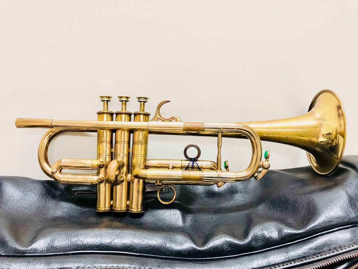 送料込◆HENRI SELMER PARISヘンリーセルマー◆トランペット G9019? フランス製◆ヴィンテージ吹奏楽 楽器 ビンテージ アンティーク レトロ